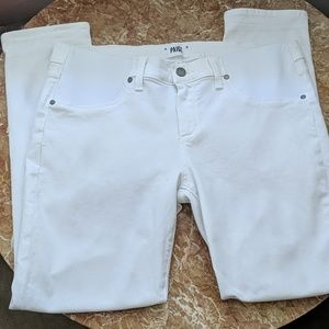 White Paige Skinny Ankle Peg Jeans